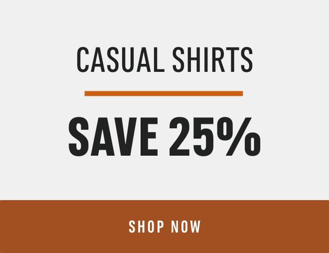 Casual Shirts Save 25%