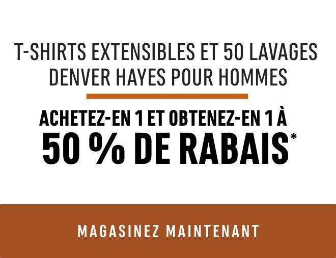 Men's Denver Hayes Stretch and 50 Wash T-Shirts - Bogo 50%*