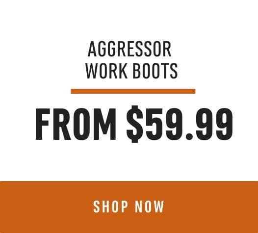 Door Crasher Deal Aggressor Work Boots: From $59.99