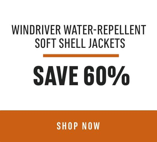 Door Crasher Deal WindRiver Water-Repellent Soft Shell Jackets: Save 60%