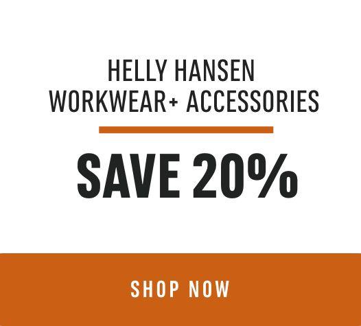 HELLY HANSEN WORKWEAR+ ACCESSORIES- SAVE 20%