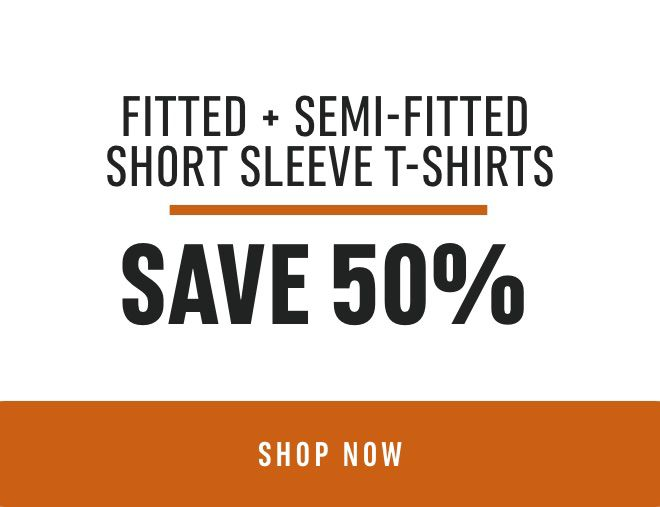 Fitted + Semi-Fitted Short Sleeve T-Shirts: Save 50%