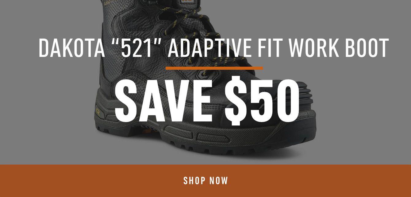 Dakota 521 Adaptive Fit Work Boot, Save $50