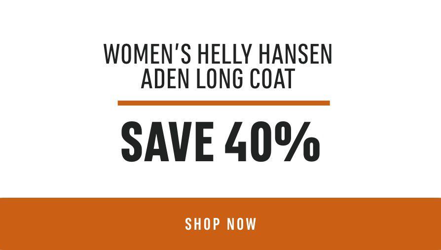 Women's Helly Hansen ADEN LONG COAT - Save 40%