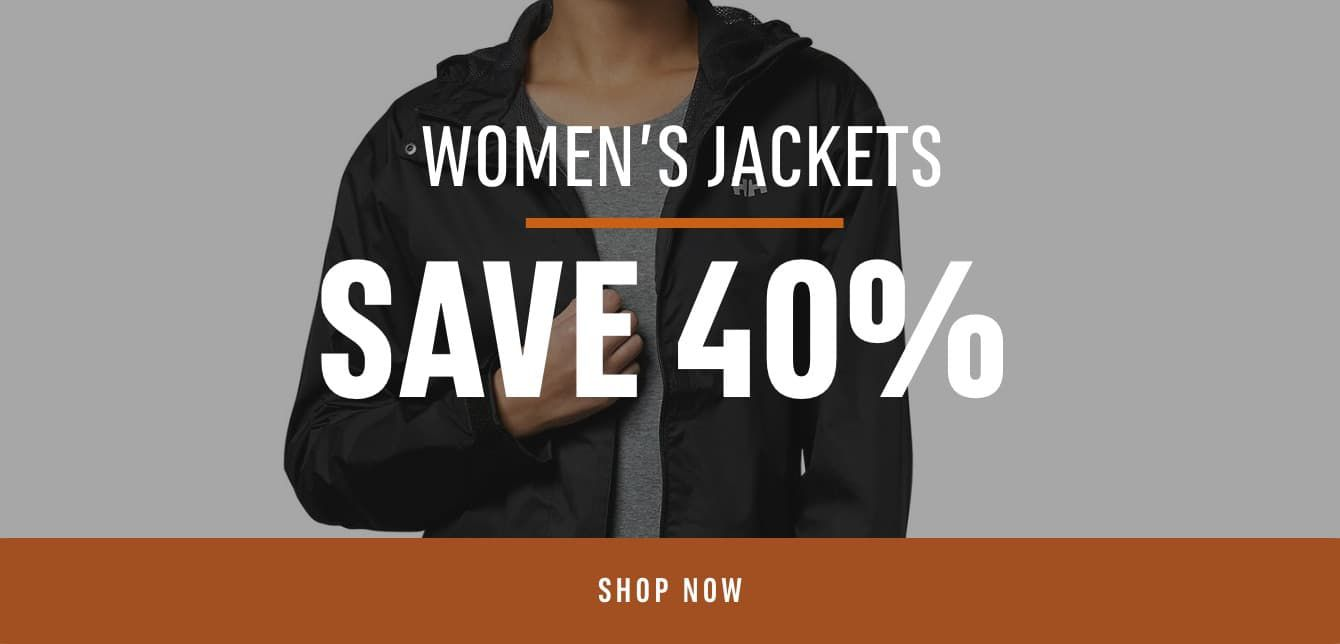 Women's Jackets Save 40%