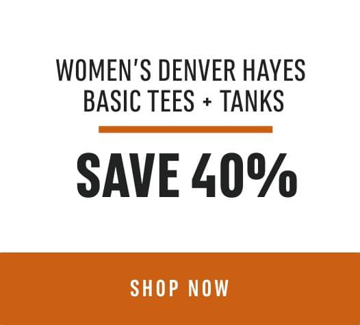 Women's Denver Hayes Basic Tees + Tanks Save 40%