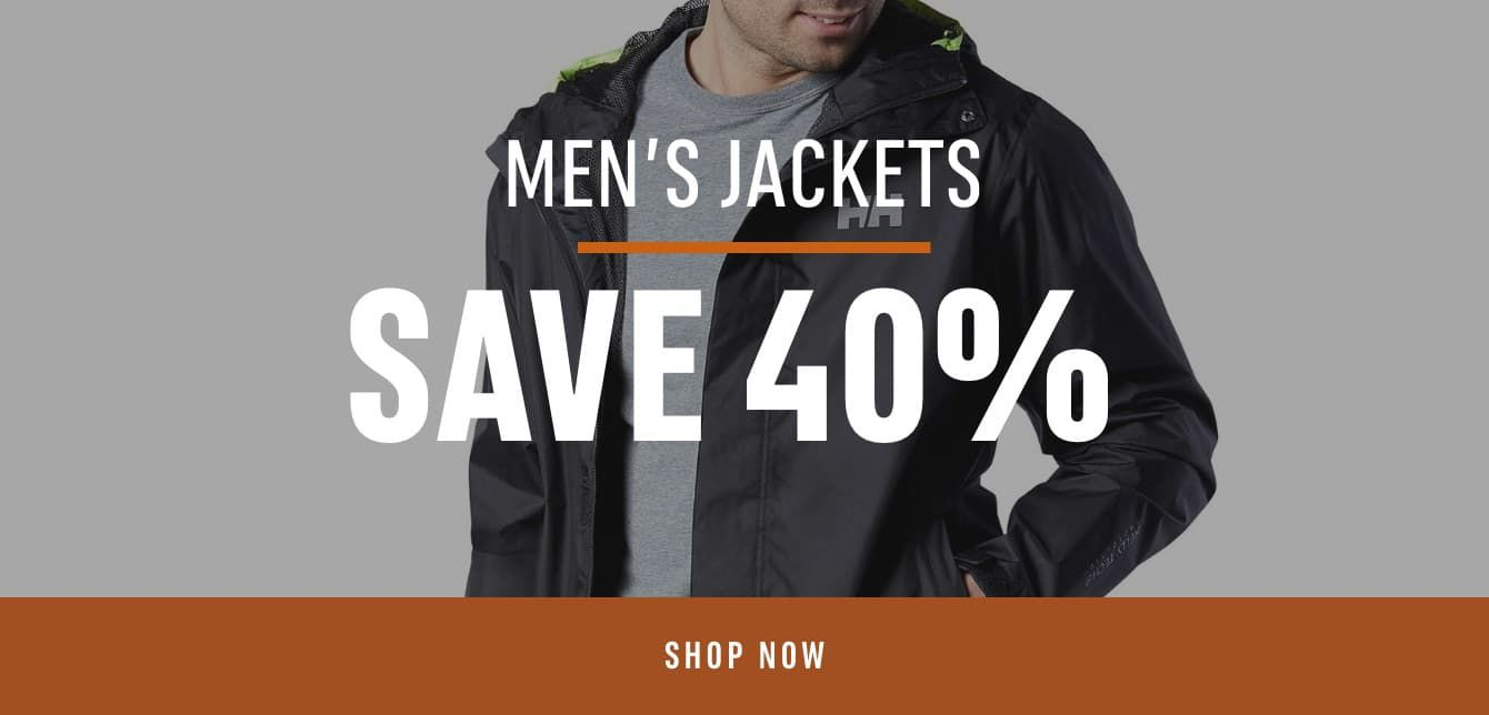 Men's Jackets: Save 40%