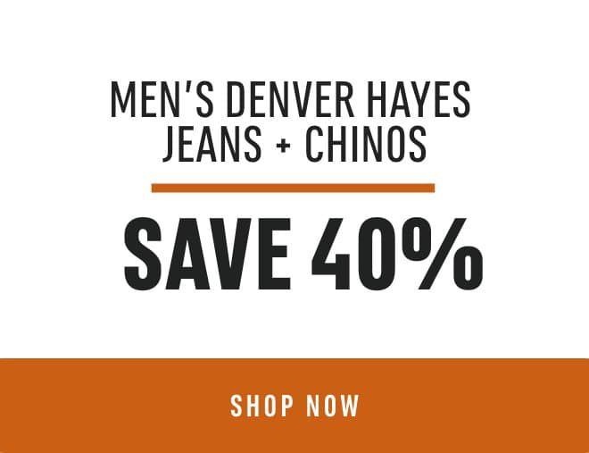 Men's Denver Hayes Jeans & Chinos: Save 40%