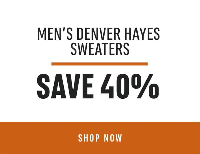 Men's Denver Hayes Sweaters: Save 40%