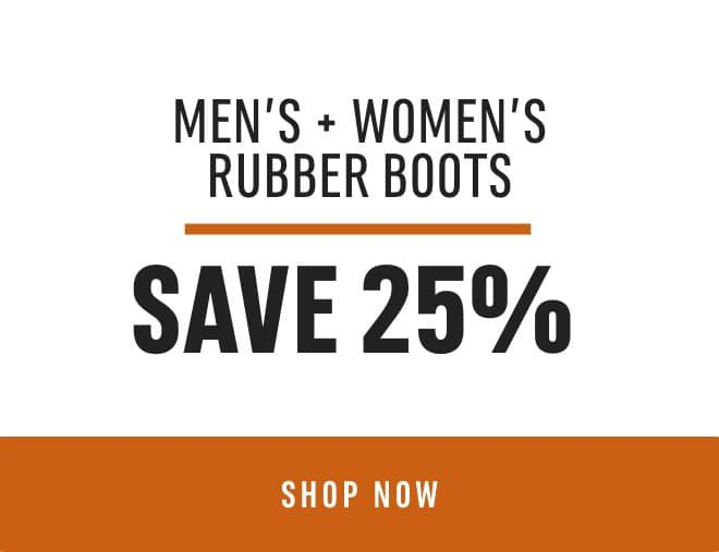 Men's & Women's Rubber Boots: Save 25%