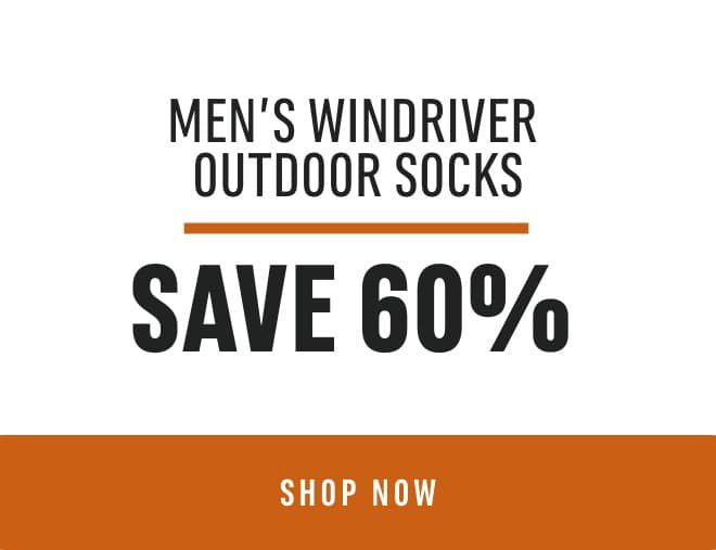 Men's WindRiver Outdoor Socks: Save 60%