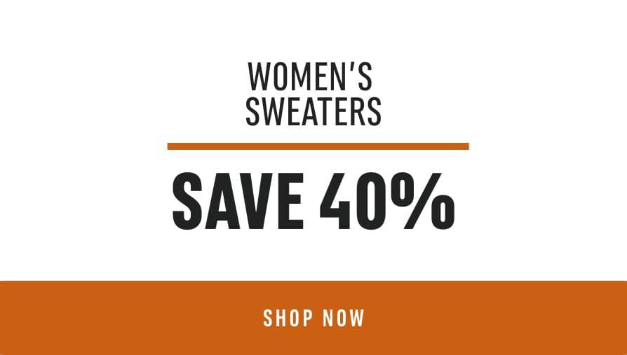 Women's Sweaters: Save 40%