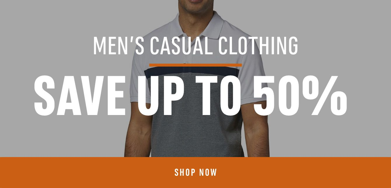 Men's Casual Clothing Save Up to 50%