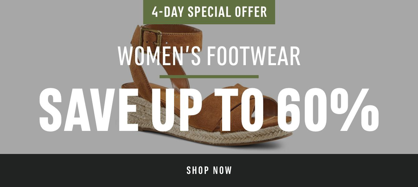 4-Day Special Offer Women's Footwear: Save Up to 60%