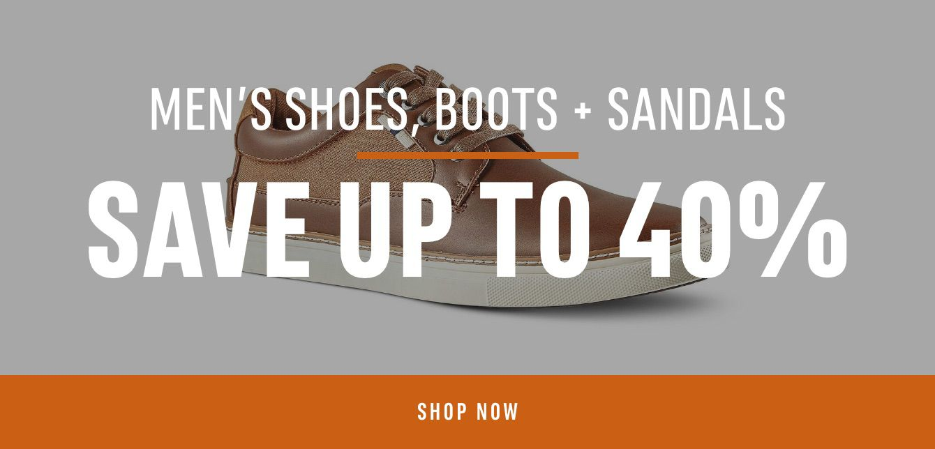 Men's Shoes, Boots & Sandals: Save up to 40%