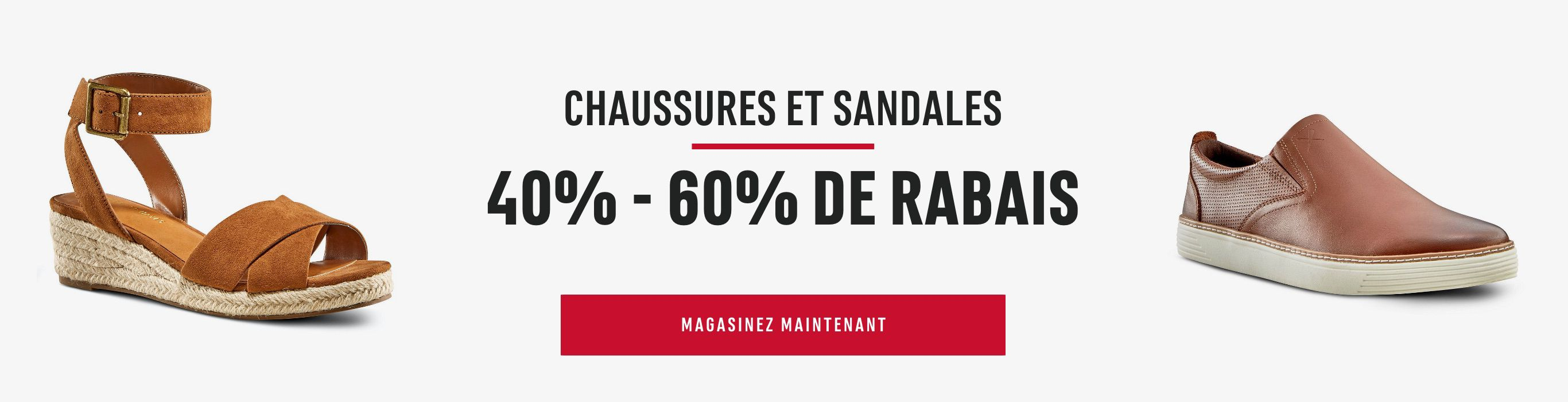 Shoes, Sneakers & Sandals: Save 40% - 60%