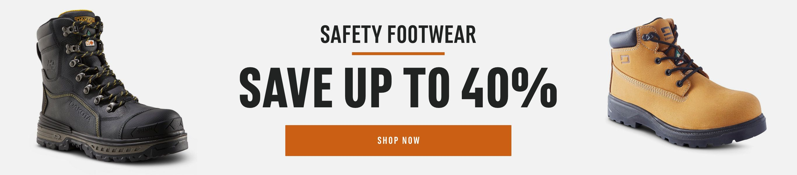 Safety Footwear: Save up to 40%