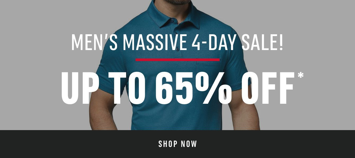 Men's Massive 4-Day Sale! up to 65% OFF*