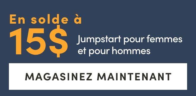 Sale $15 on women's & men's Jumpstart t-shirts