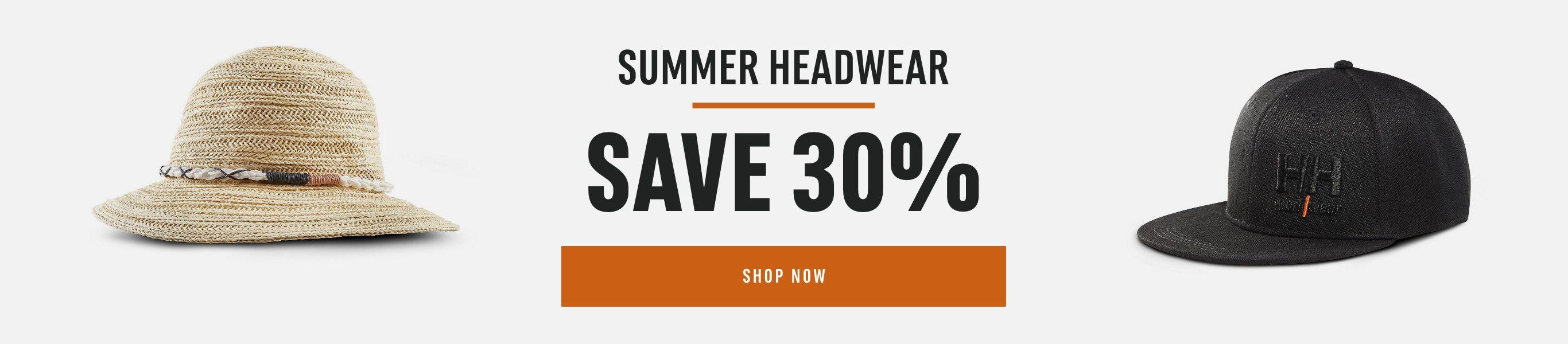 Summer Headwear: Save 30%
