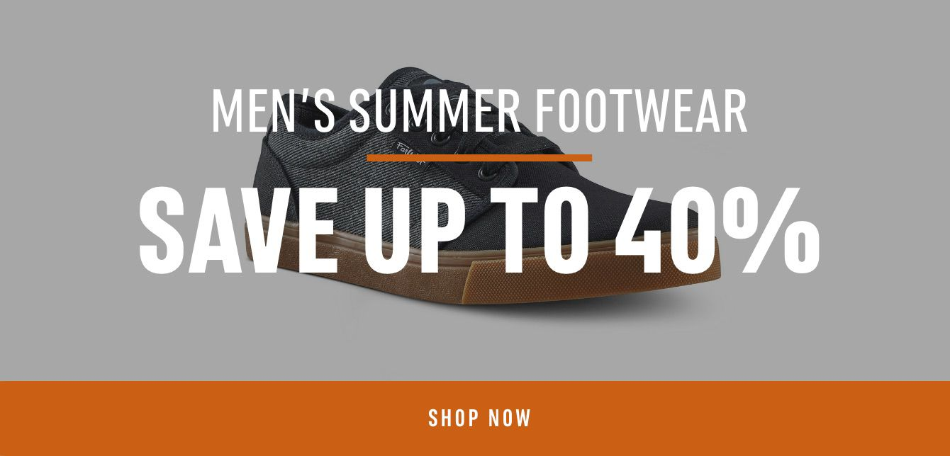 Men's Summer footwear : Save up to 40%