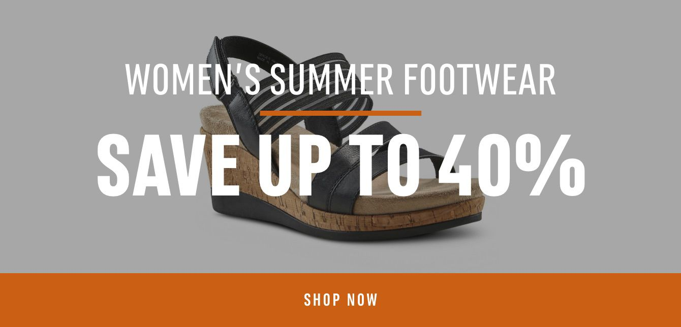 Women's Summer footwear : Save up to 40%
