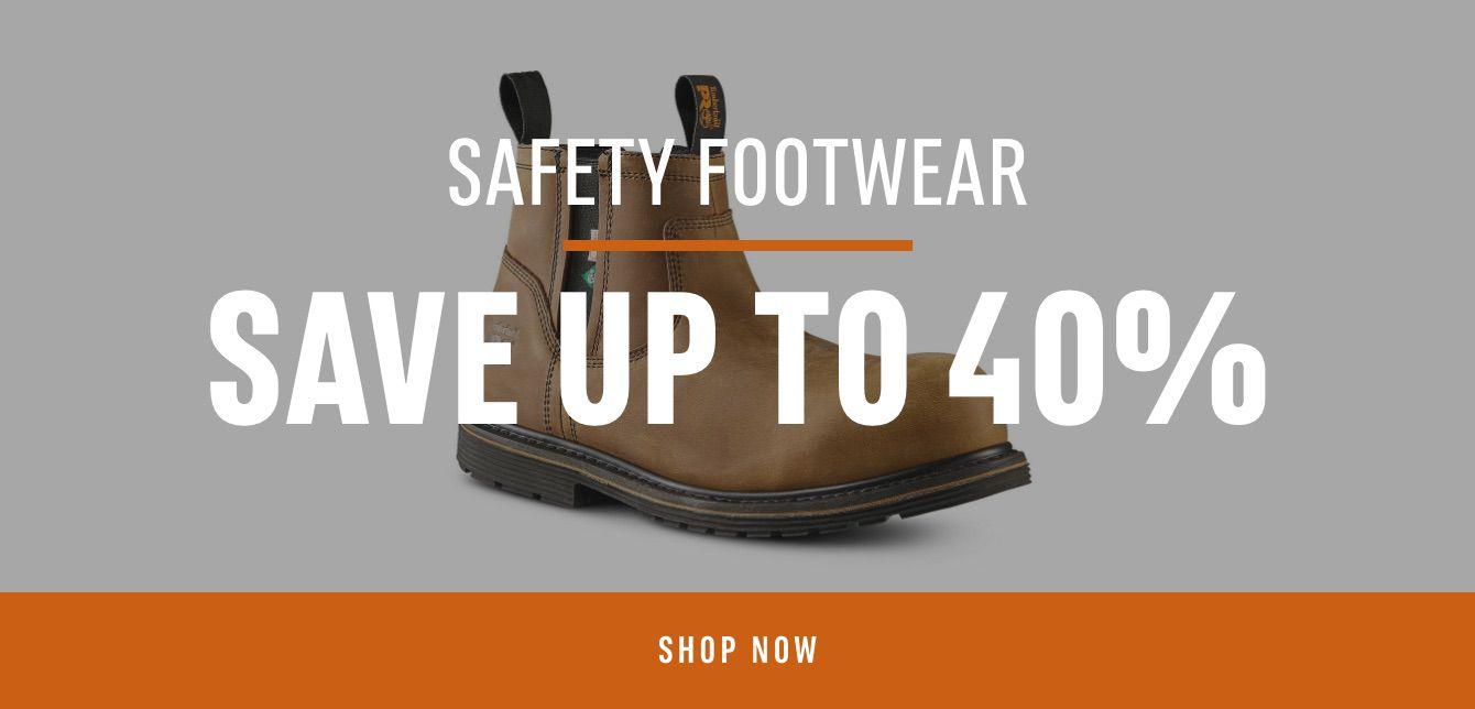 Safety Footwear: Save 40%