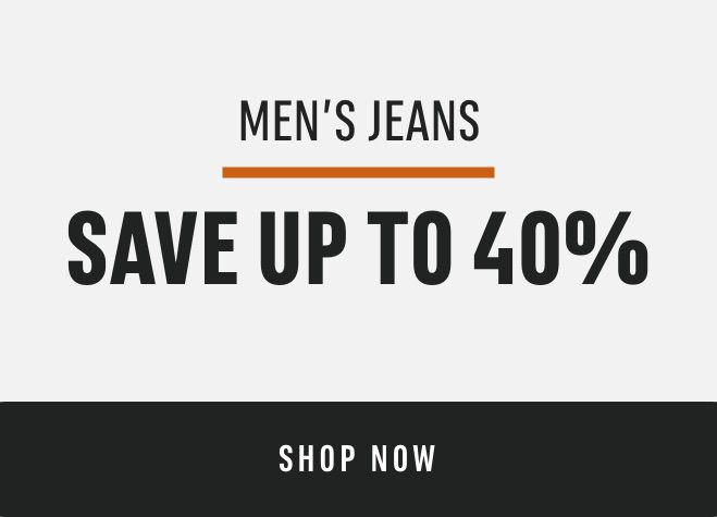 Men's Jeans : save up to 40%