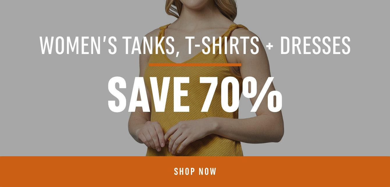 Women's Tanks, T-Shirts and Dresses: Save 70%