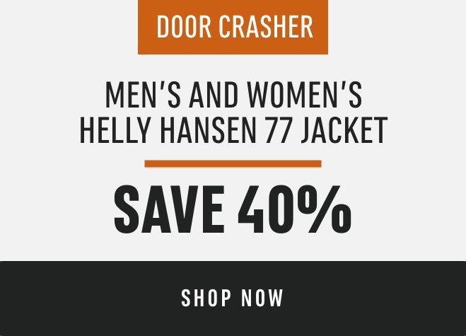 DOOR CRASHER: Men's and Women's Helly Hansen 77 Jacket: Save 40%