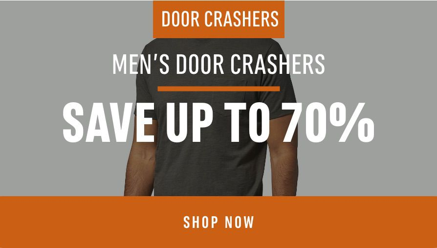 Men's Door Crashers: Save up to 70%
