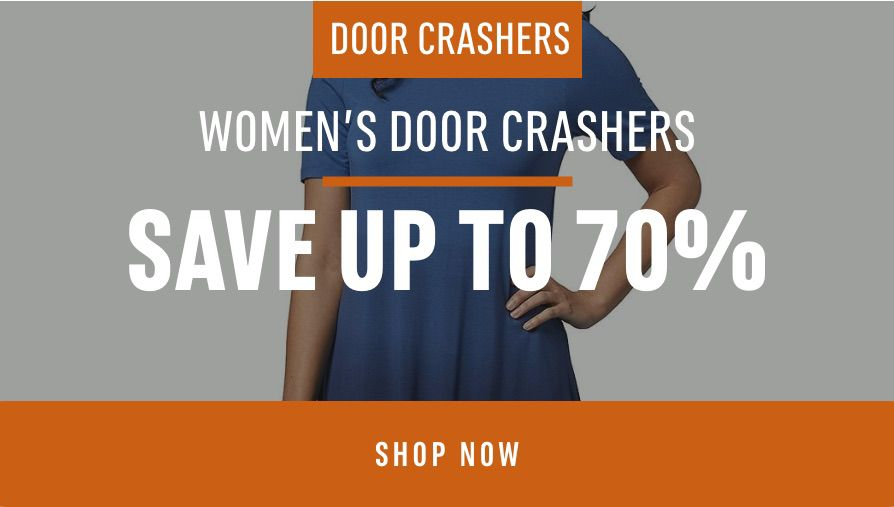 Women's Door crashers: Save up to 70%