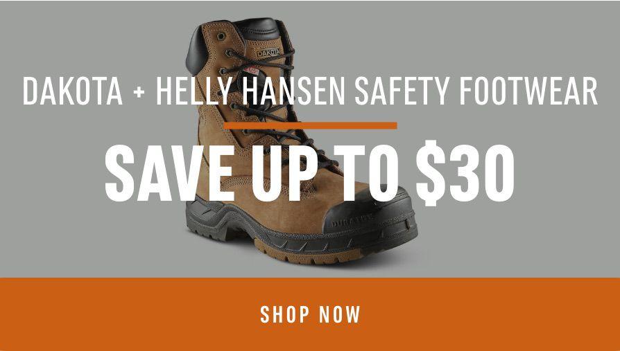 Dakota + Helly Hansen Safety Footwear: Save Up To $30