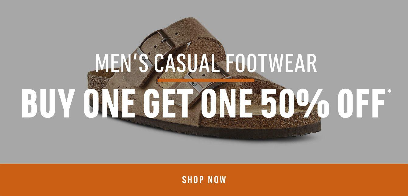 Men's Casual Footwear: Buy One Get One 50% Off*