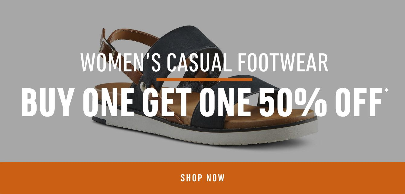 Women's Casual Footwear: Buy One Get One 50% Off*