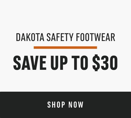 Dakota Safety Footwear: Save up to $30