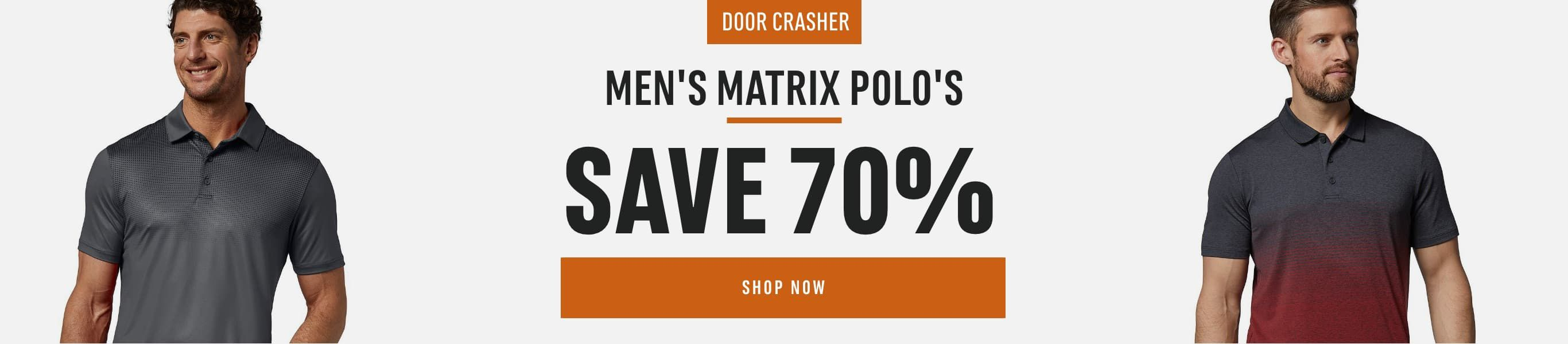 Men's Matrix Polo's: Save 70%