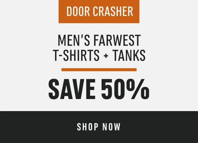 Men's Farwest T-shirts and Tanks: Save 50%