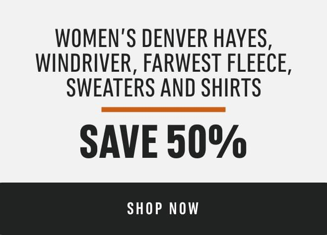 Women's Denver Hayes, Wind River, Far West Fleece, Sweaters and Shirts: Save 50%