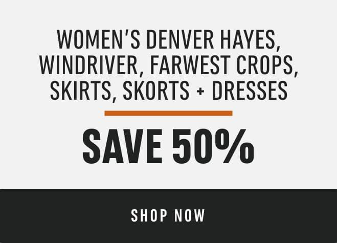 Women's Denver Hayes, Wind River, Far West Crops, Skirts, Skorts + Dresses: Save 50%