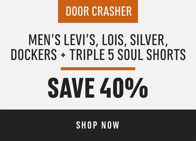 Men's Levi's, Lois, Silver, Dockers and Triple 5 Soul Shorts: Save 40%
