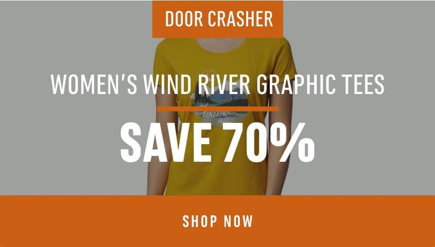 Women's Wind River Graphic Tees: Save 70%