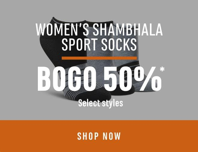 Women's Shambhala Sport Socks (Select Styles): BOGO 50%