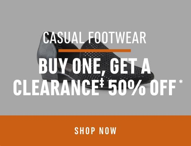 Casual Footwear: Buy one, Get a Clearance 50% off