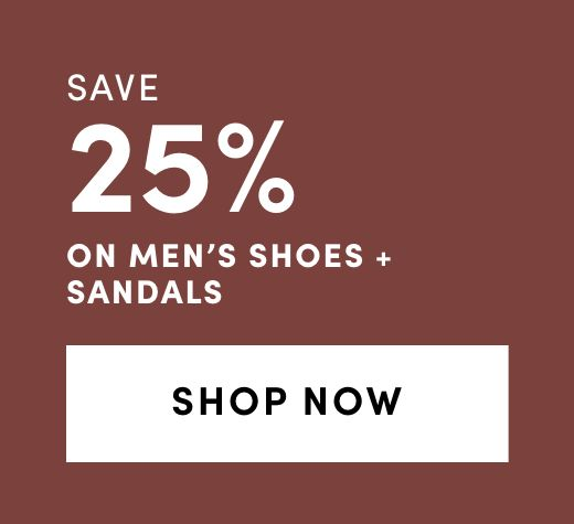 Men's Shoes and Sandals: Save 25%