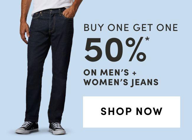 Men's & Women's Jeans: Bogo 50%
