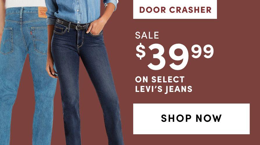 DOOR CRASHER: Select Levi's Jeans: Sale $39.99