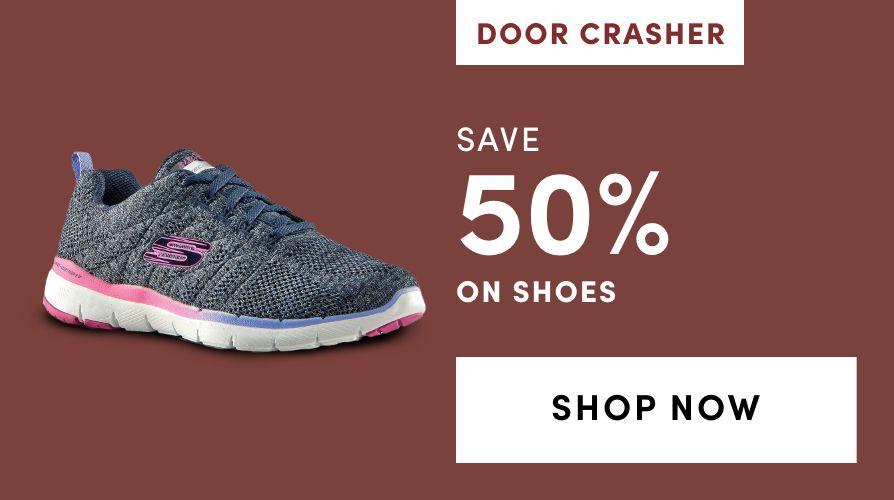 DOOR CRASHER: Shoes: Save 50%