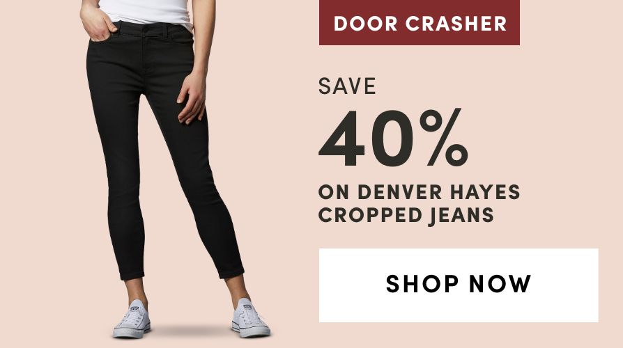 DOOR CRASHER: Denver Hayes Cropped Jeans: Save 40%