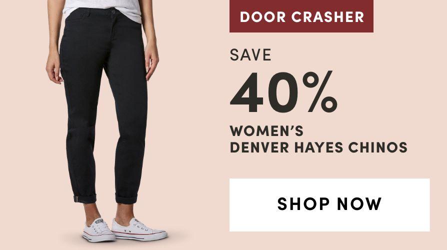 DOOR CRASHER: Women's Denver Hayes Chinos: Save 40%